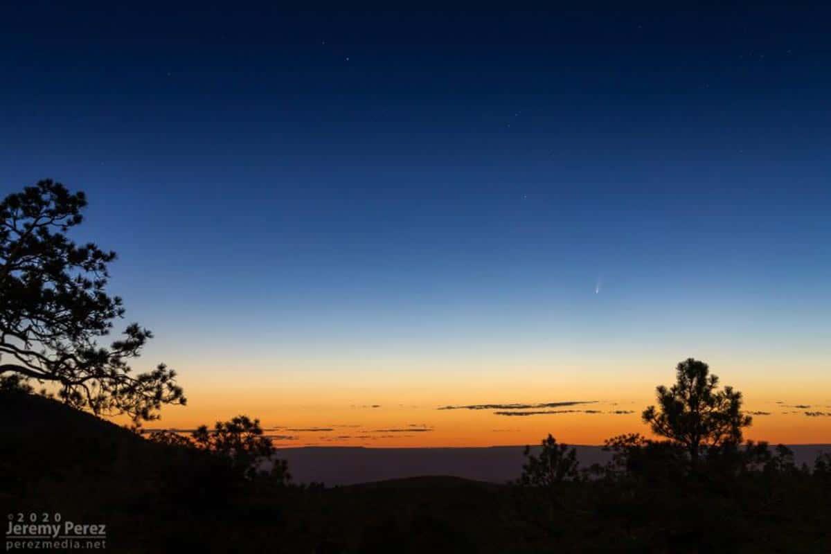 Cette image a été prise le matin du 5 juillet 2020 par Jeremy Perez au Sunset Crater en Arizona.