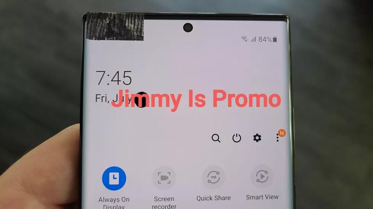 Le Galaxy Note 20 : une photo du front