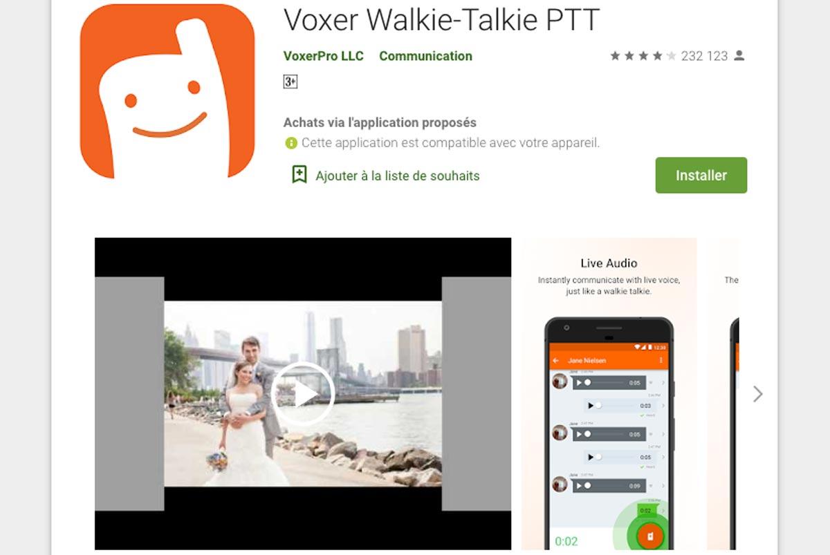 Voxer Walkie-Talkie PTT est disponible pour iOS et Android.