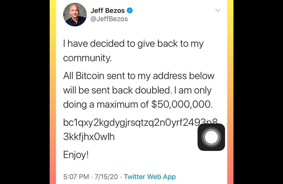 Compte Twitter de Jeff Bezos a été piraté