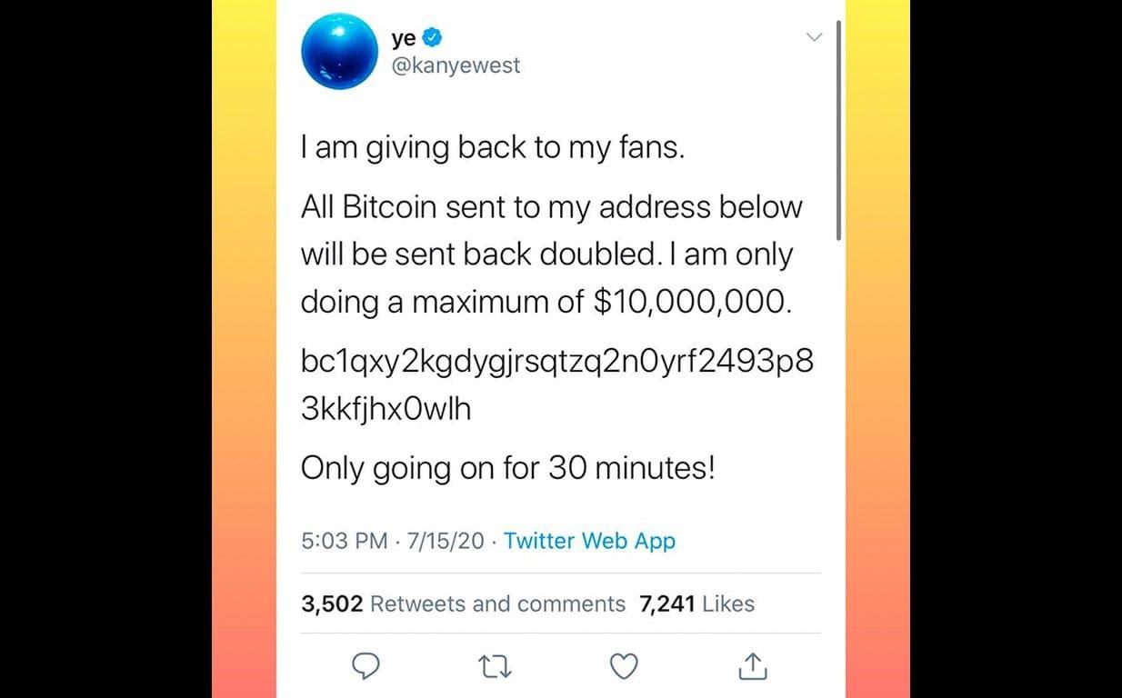Compte Twitter de Kanyewest a été piraté