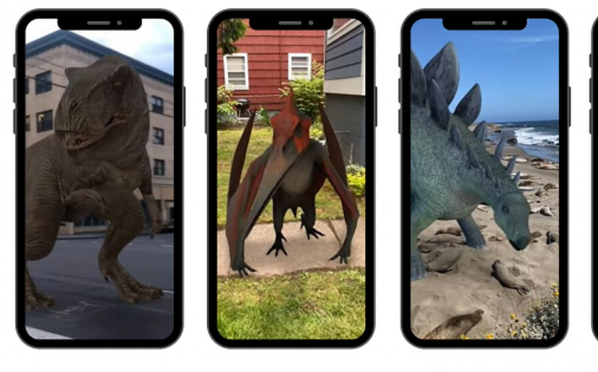 Dinosaures 3D (Google).