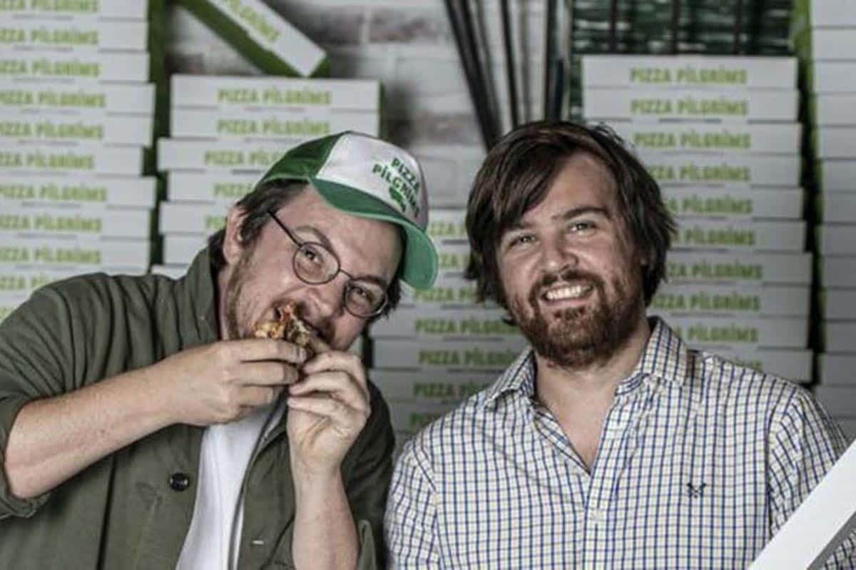 Les fondateurs de Pizza Pigrim, James et Thom Elliot, ont trouvé une solution à la fermeture de leurs magasins