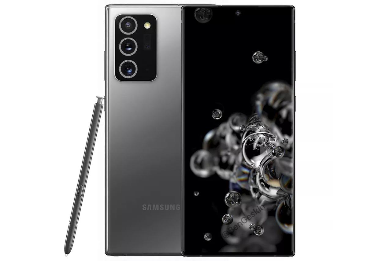 Fuite photo : Galaxy Note 20 Plus