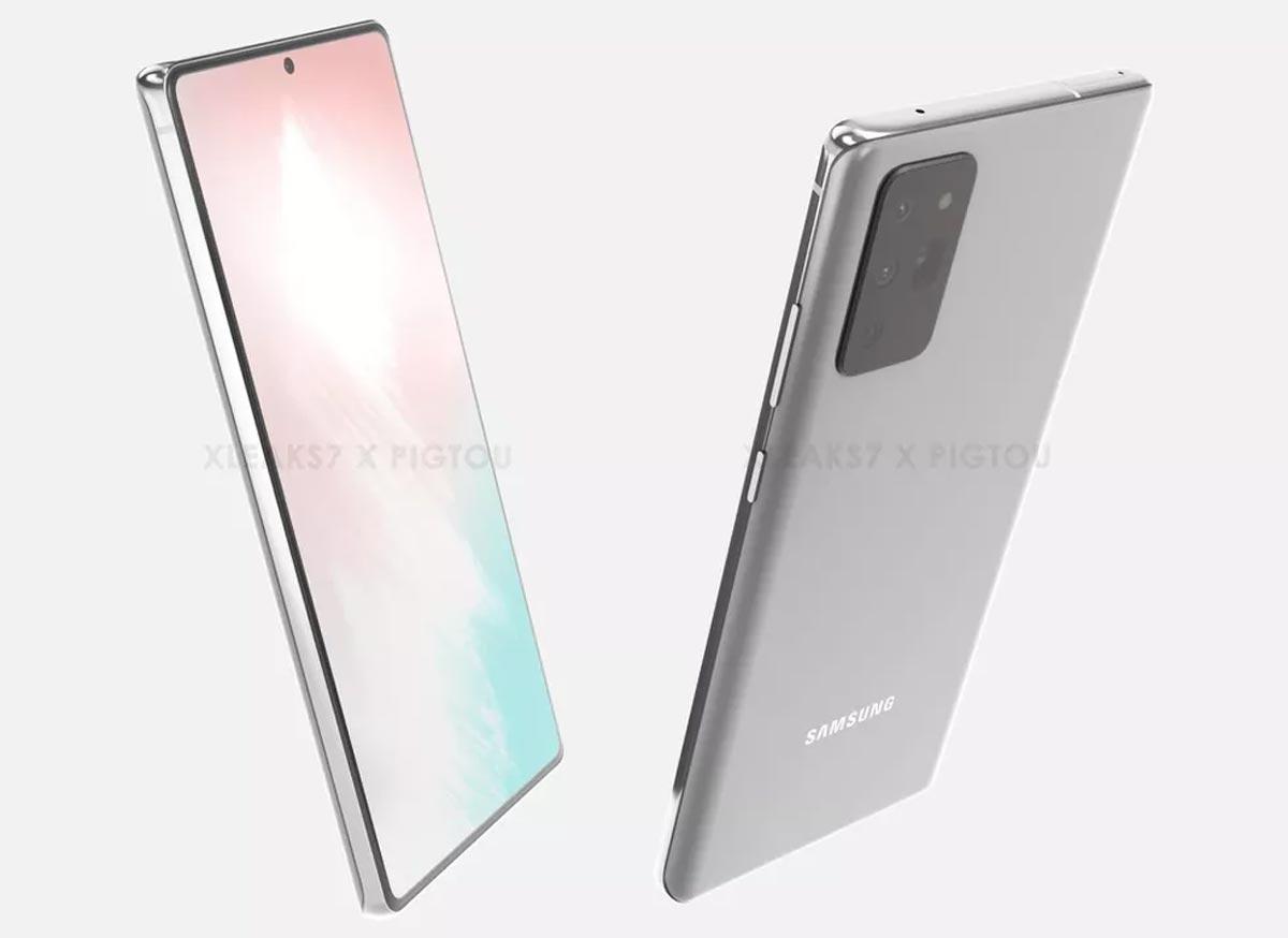 Galaxy Note 20 : une autre image sous d'autres angles