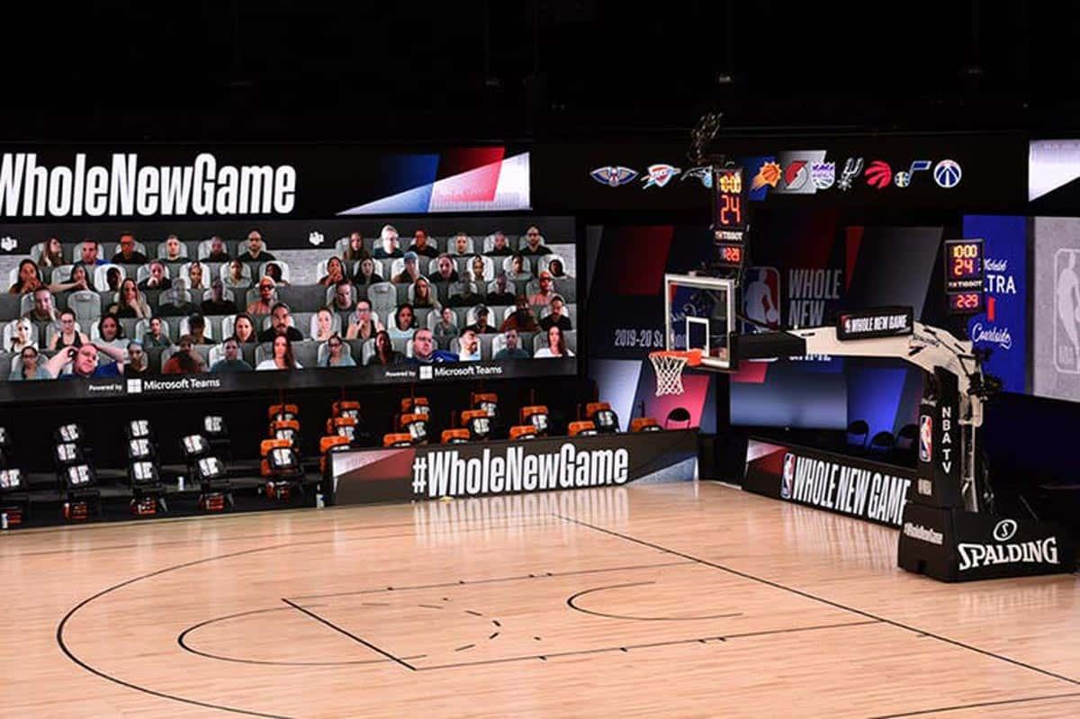 "La fonction ""Microsoft Teams"" pendant les matchs de la NBA"