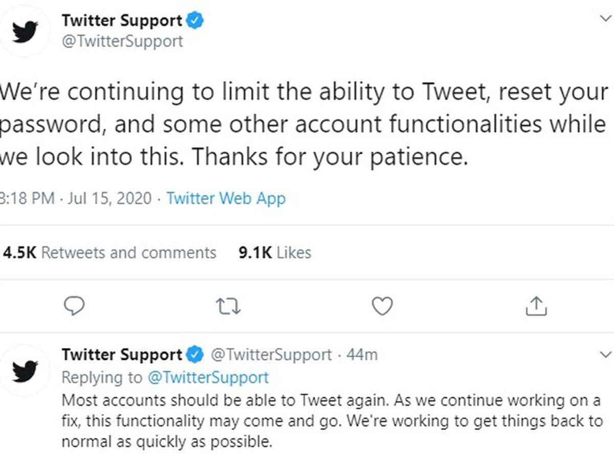 De nombreux comptes Twitter ont été piratés