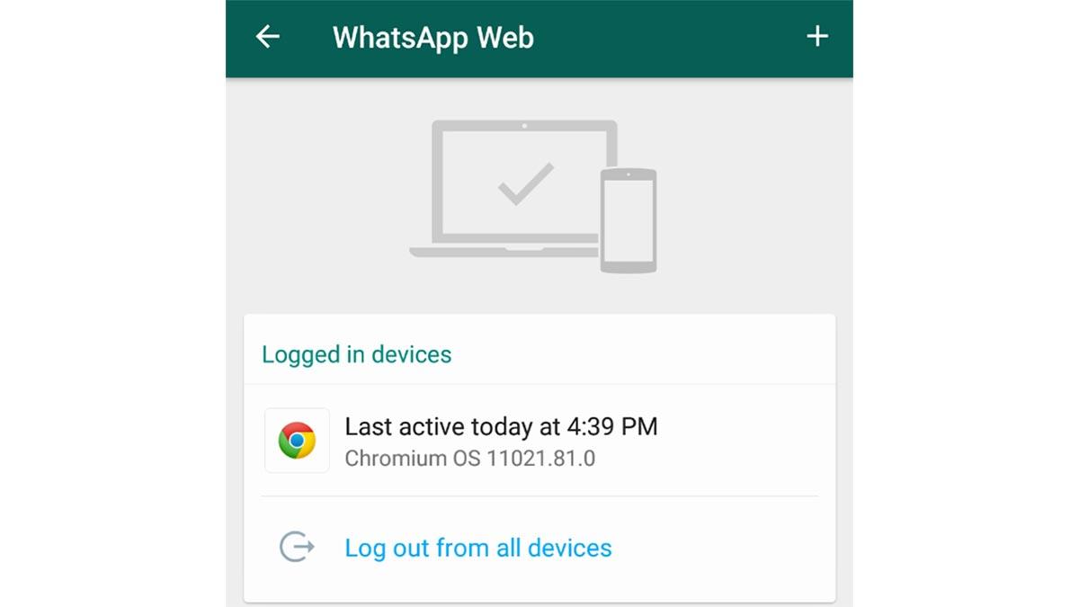 Fermer les sessions Web de WhatsApp qui ne sont pas reconnues.