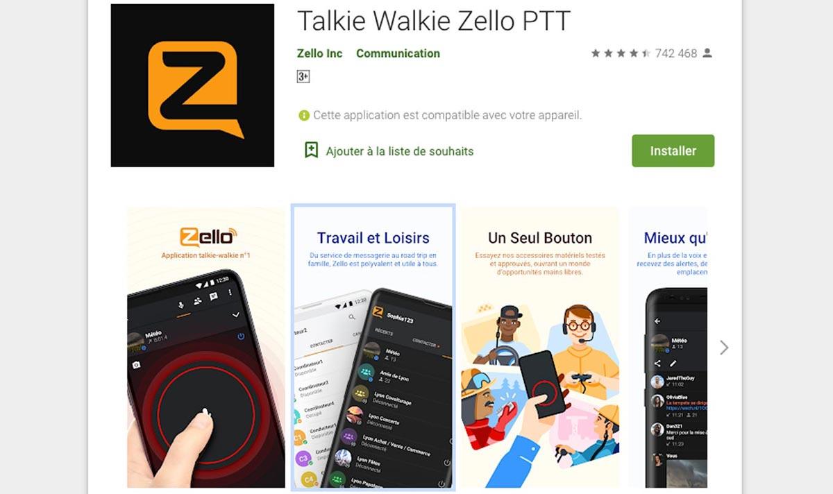 Zello a gagné en popularité au cours de cette année.