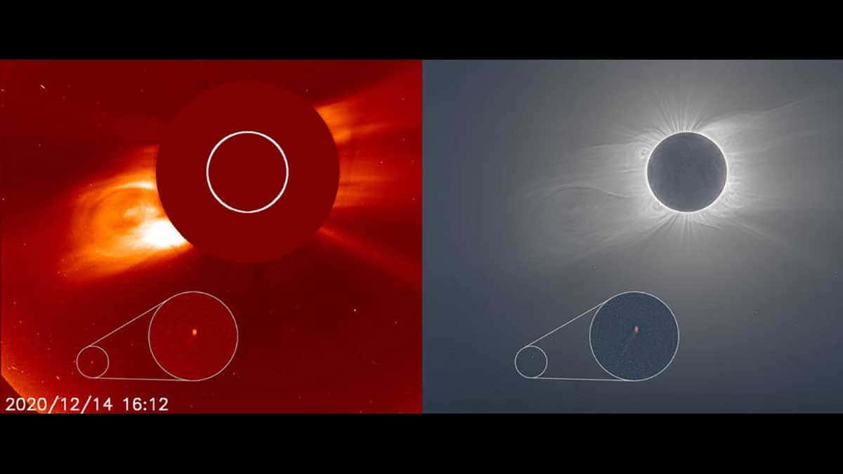 La comète que personne n'a vue lors de la dernière éclipse de Soleil