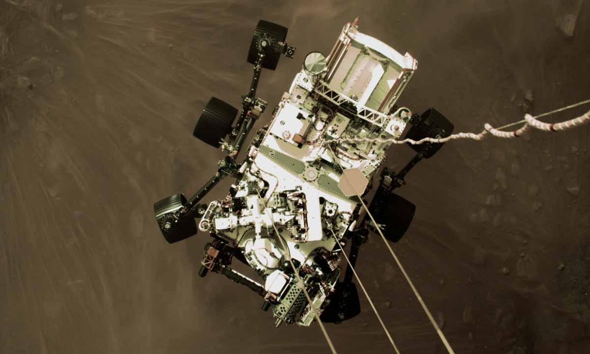 Mars Perseverance : comment elle a atterri sur Mars
