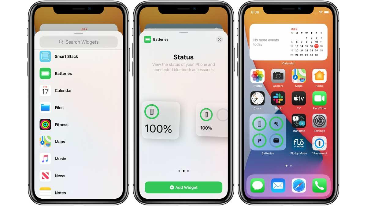 Comment voir le pourcentage de la batterie d'iPhone