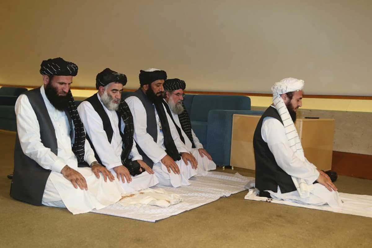 La délégation des Talibans d'Afghanistan.