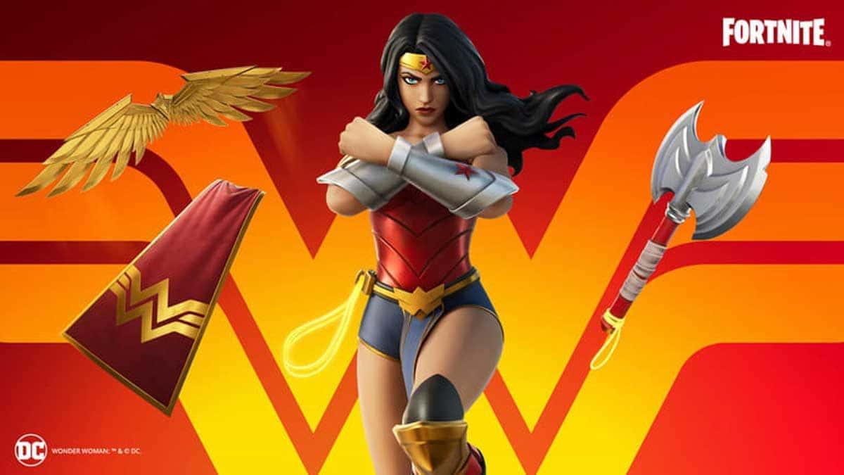 Wonder Woman fait une apparition dans Fortnite.