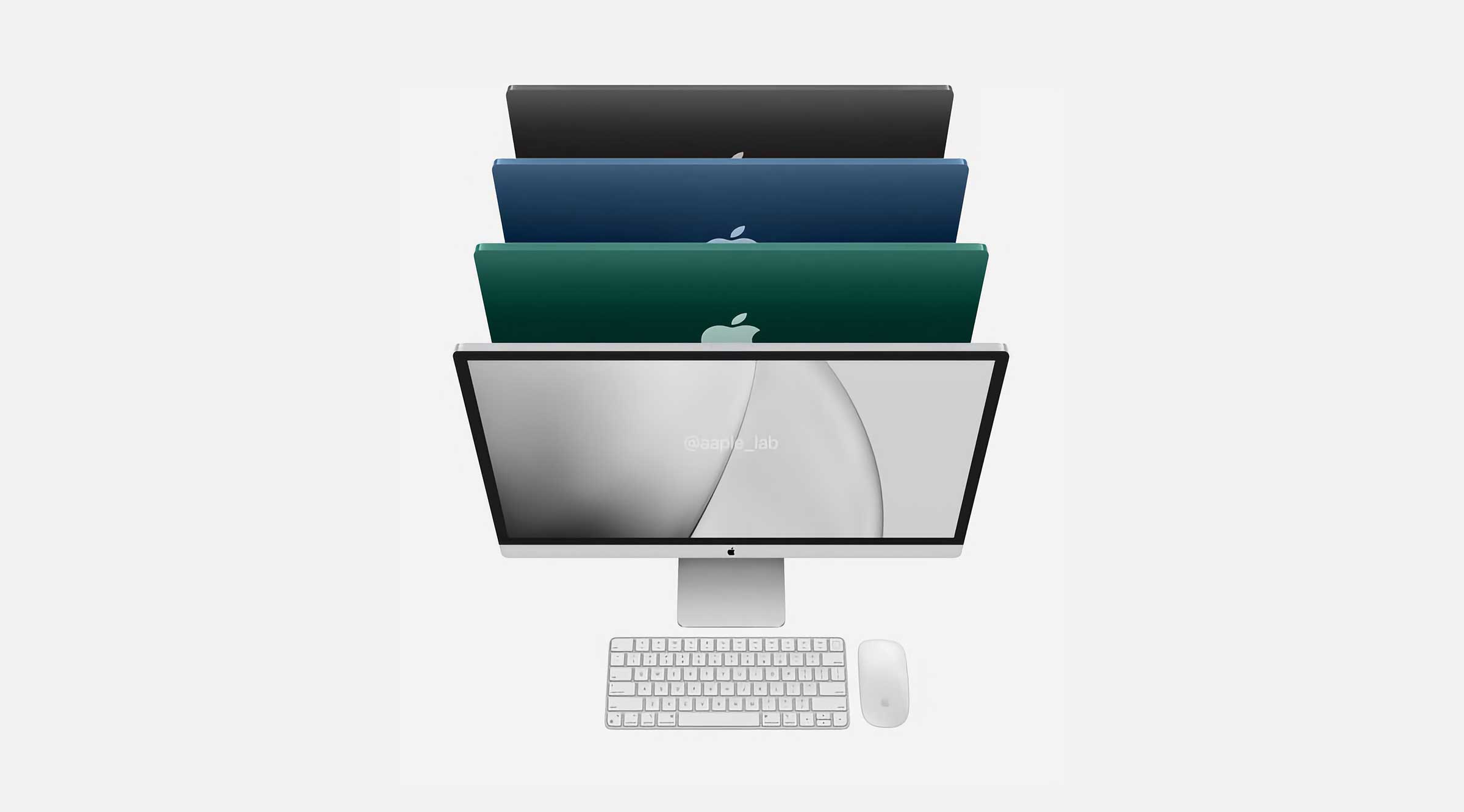 Concept nouveaux iMac de 32 pouces.