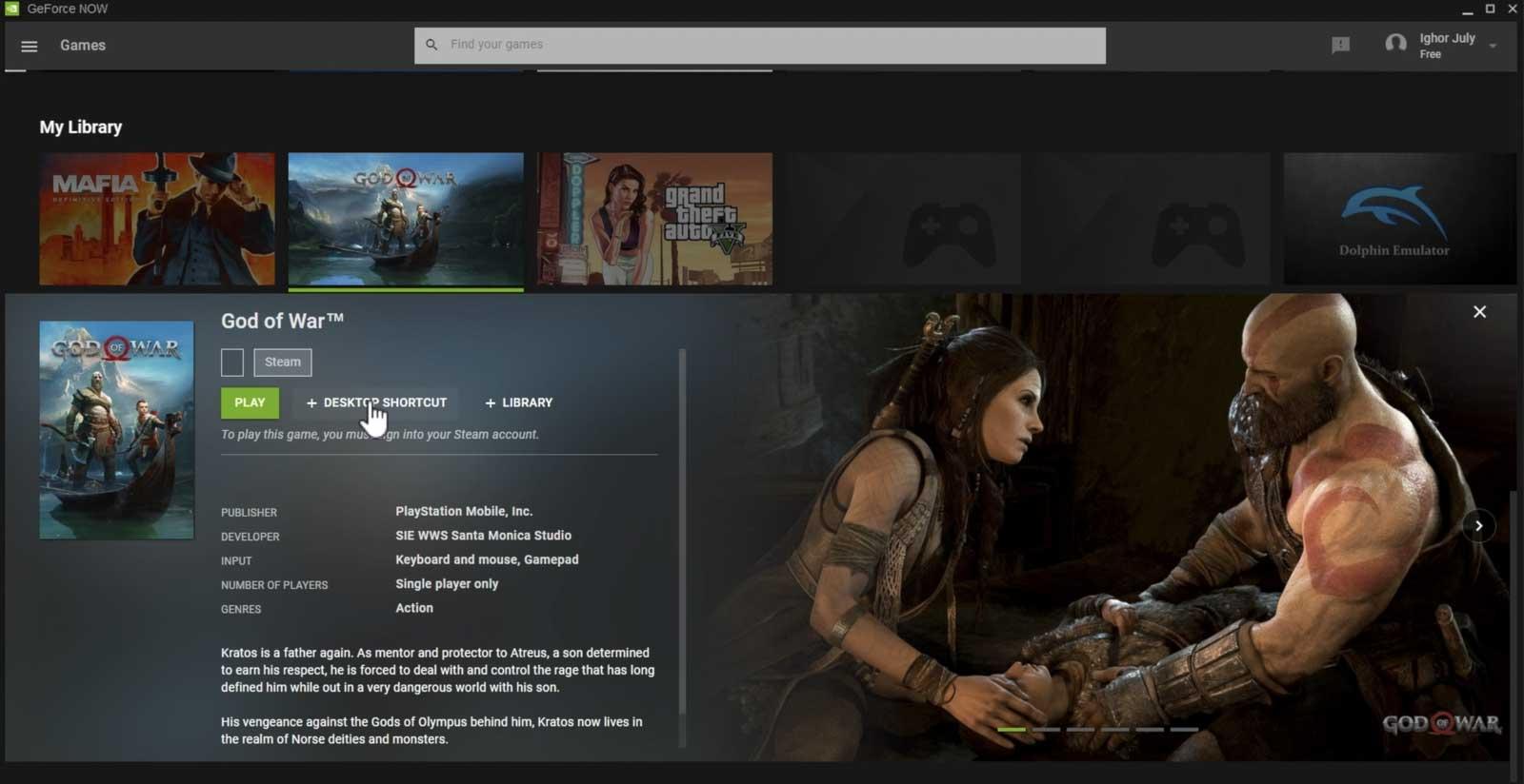 La liste des jeux Nvidia sur PC qui incluent God of War a été découverte.
